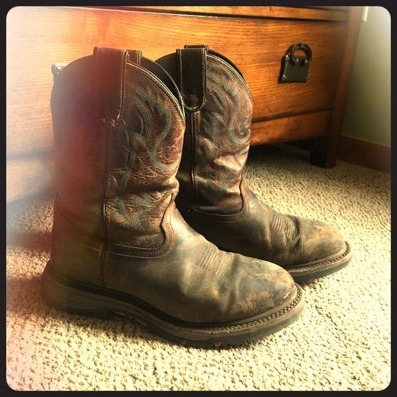 ceb3903df4e Mens double H round toe boots